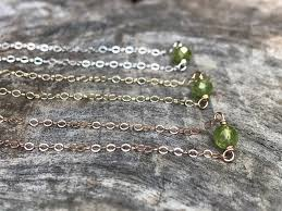 Genuine Faceted Green <b>Peridot</b> - Sterling Silver / <b>14k</b> Yellow <b>Gold</b> ...