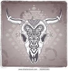 Стоковая векторная графика «Vector <b>Tribal</b> Animal <b>Skull</b> ...