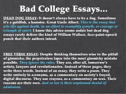 college essay copy   bad college essays