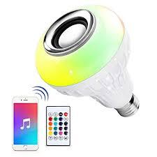 led bulb led wireless light bulb speaker rgb smart music lamp e27
