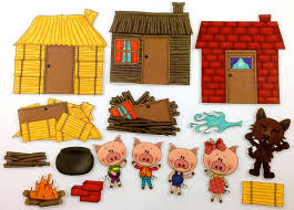 Image result for 3 little pigs clipart
