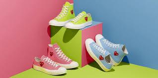 <b>COMME GARÇONS</b> PLAY Converse Chuck 70 Green, <b>Blue</b>, Pink ...