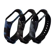 Durable <b>Soft</b> Camouflage <b>Silicone</b> Wristband Replacement Watch ...