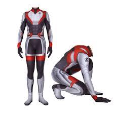 Avengers <b>Endgame</b> Quantum <b>Realm Cosplay Costume</b> Superhero ...