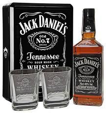 <b>Виски</b> Jack Daniel's Old No.<b>7</b> Tennessee 0.7 л + 2 стакана ...