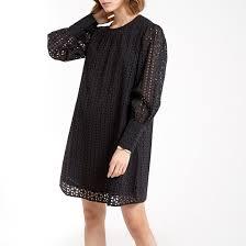 <b>Платье</b>-футляр <b>короткое</b> из английской вышивки <b>La Redoute</b> ...