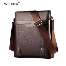 <b>WEIXIER 2019 New</b> Fashion PU Leather Men Messenger Bags ...