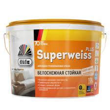 <b>Краска Dufa Retail Superweiss</b> Plus глубокоматовая 10 л ...