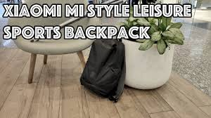 Отличный <b>рюкзак Xiaomi Mi</b> Style Leisure Sports Backpack