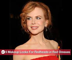 what kind of makeup to wear if you 39 re a redhead wearing a red dress