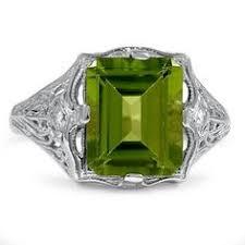 14K <b>White Gold</b> The Isaura Ring   Vintage Gemstone Rings   Rings ...