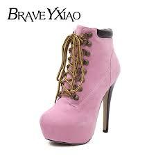 <b>2019</b> Winter Boots <b>Women Super High</b> Heels Platform Shoes Night ...