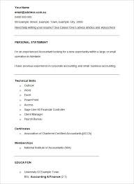 accounting resume template –    free samples  examples  format    cv template finance financial accountant