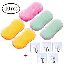 Kitchen Scouring Pads, Jestool <b>5pcs</b> Double Sided <b>Sponges</b> ...