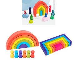 <b>Rainbow blocks</b> | Etsy