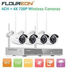 <b>FLOUREON Wireless CCTV</b> Security House Camera System <b>4CH</b> ...