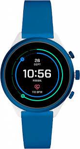 Умные <b>наручные часы Fossil</b> с хронографом синие с ...