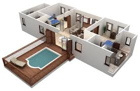 bedroom house plans artistic