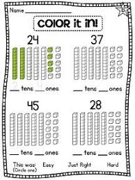 1st grade math worksheets, 1st grade math and Place values on ...Color in the number for place value - Love!