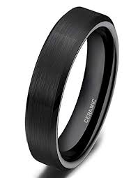 <b>SOMEN</b> TUNGSTEN Black Ceramic <b>Rings</b> Brushed Comfort Fit ...