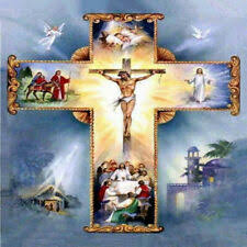 Religious <b>Diamond Painting Cross</b> Stitch Kits for sale | eBay