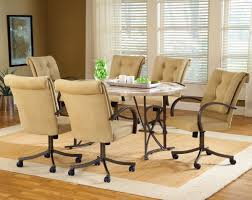 Tufted Dining Room Sets Swivel Classic Dining Room Design With Elliptical Table And Creamu
