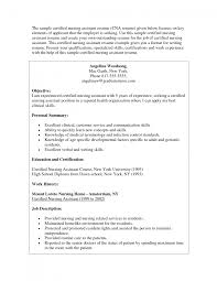 sample cna certified nursing assistant resume samples quotes gallery of objectives for cna resume