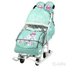<b>Санки коляска Nika Disney</b> baby 2 Минни Маус мятный купить в ...