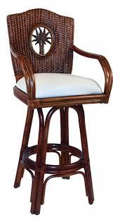 swivel dining chair tc bimini indoor swivel rattan amp wicker quot counter stool in tc antiqu