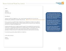 donor centered thank you letters your first step to the next gift samples
