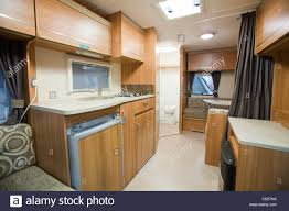 sink middle caravan a caravan interior at the caravan and motor home show at event city in