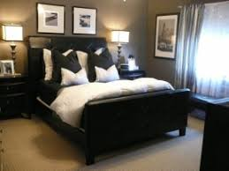 simple lines and monochromatic colors create a bedroom that effortlessly makes a huge impression and reflects bedroom black furniture
