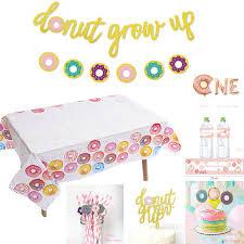 <b>Omilut</b> Donut Disposale Tableware Set Donut 1th <b>Birthday</b> ...