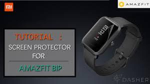 Tutorial: <b>Screen protector for Xiaomi</b> Amazfit BIP - YouTube