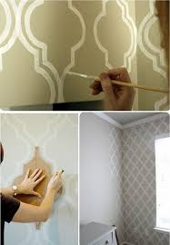 Paint Design Ideas Diy Paint Wall Pattern Master Accent Wall Sublime Decor