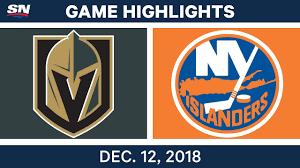 NHL Highlights | Golden Knights vs. Islanders - Dec 12, 2018 ...