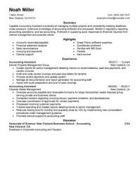 accounting assistant resume example examples of accounting resumes