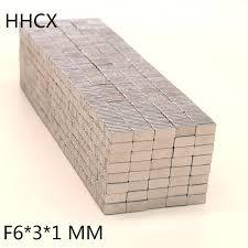 10pcs/<b>lot magnet</b> 6x3x1 mm N35 <b>Strong</b> Square <b>NdFeB</b> Rare Earth ...