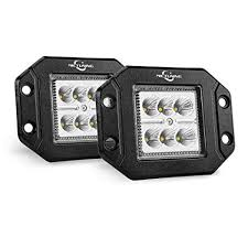 MICTUNING <b>2PCS</b> 18W Flood <b>LED Work Light</b>, 1500LM Flush ...