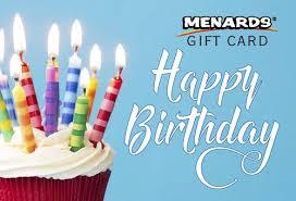 Menards Gift Card - Happy Birthday at Menards®