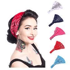<b>Women Paisley Bandana Headband</b> Dance Headband Cotton ...