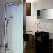 taps shower uk contemporary color changing led  inch shower head hand shower tap tf