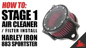 HOW TO: Stage 1 Air Cleaner / Filter Install on <b>Harley Sportster</b> ...