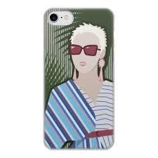 """Чехол для iPhone 8, объёмная печать """"Блондинка в красных ..."""