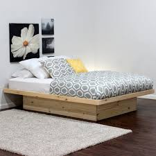 ghotic bedroom goth furniture platform bed without drawers shown in pine