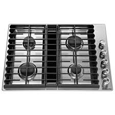 Gas Stainless Steel Cooktop Kitchenaid 30 In Gas Downdraft Cooktop In Stainless Steel With 4
