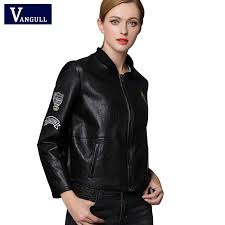 Vangull leather jacket <b>2018 women</b> Autumn Winter <b>Faux</b> Leather ...