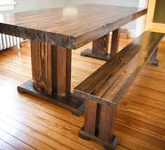 Picnic Table Dining Room Custom Wooden Butcher Block Table With Bench Seat For Small Dining