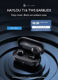 <b>HAYLOU T16 TWS</b> Earbuds Global Launch with Coupons