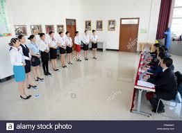 harbin xinhua applicants attending 160408 harbin 8 2016 xinhua applicants attending airline stewardess audition receive interview in harbin northeast s heilongjiang